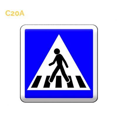 C20A  panneau d'indication d'un passage pour piétons. MySignalisation.com