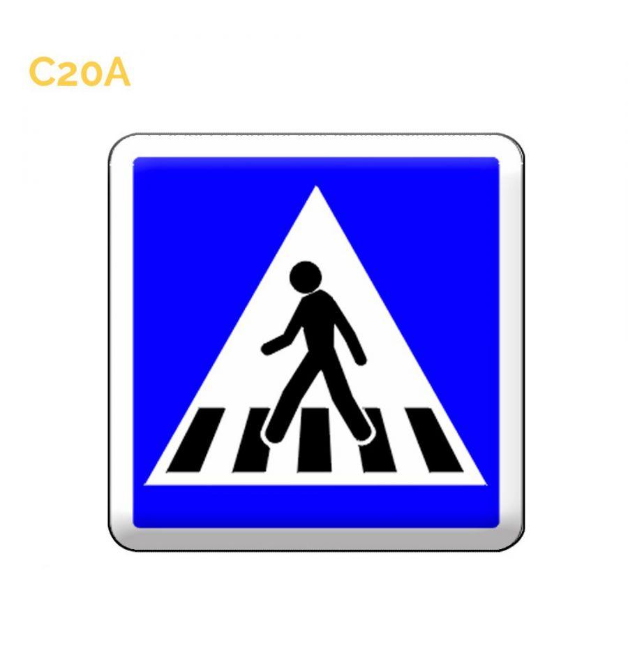 C20a - Panneau Routier Passage Piétons dès 30,49€ HTMySignalisation