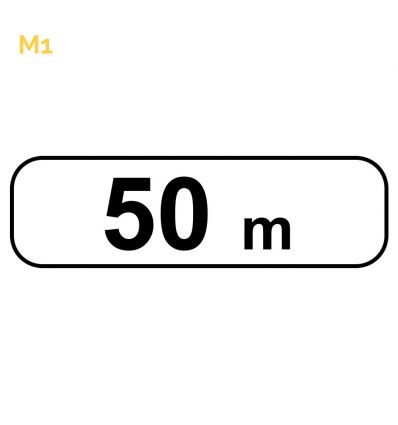 M1 - Panonceau de distance Mysignalisation.com