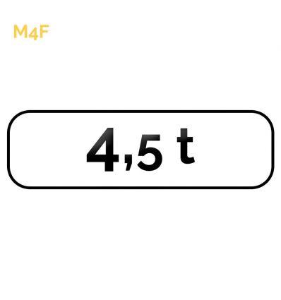 M4f - Panonceau de catégorie Mysignalisation.com