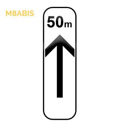M8abis - Panonceau d'application des prescriptions concernant l'arrêt et le stationnement  Mysignalisation.com