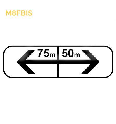 M8fbis - Panonceau d'application des prescriptions concernant l'arrêt et le stationnement   Mysignalisation.com