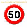 B14 - Panneau limitation de vitesse qui notifie l'interdiction de dépasser la vitesse indiquée Mysignalisation.com