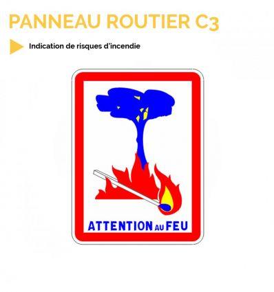 C3 - Panneau d'indication de risques d'incendie