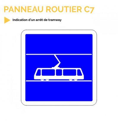 C7 - Panneau d'indication d'arrêt de tramway