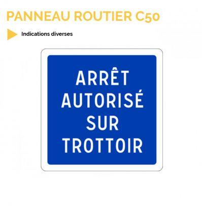 C50 - Panneau d'indications diverses