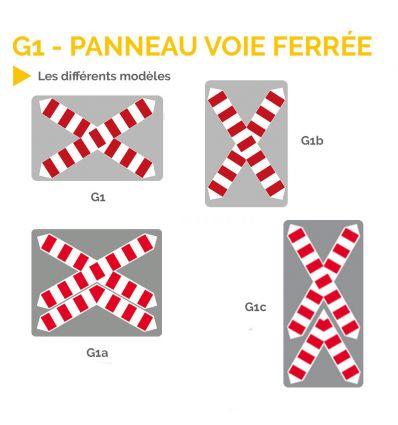 G1 - Panneau croix de Saint André pour voie ferrée