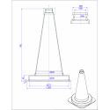 K5a - Cône de signalisation 500mm 1.1kg mysignalisation
