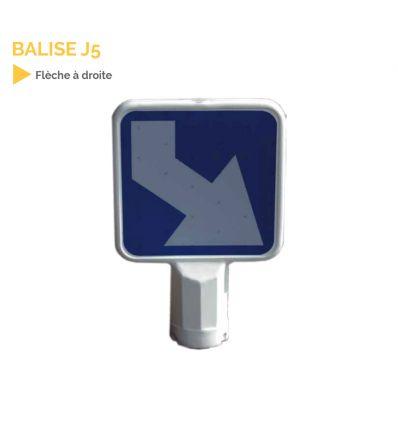 J5 - Balise autorelevable têtes d'îlots directionnels à contournement par la droite.