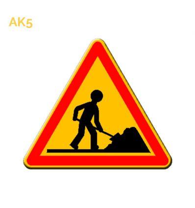 AK5 - panneau routier temporaire Travaux Mysignalisation