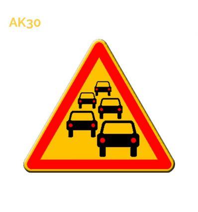AK30 - panneau routier temporaire bouchons Mysignalisation