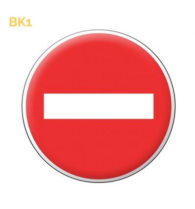 BK1 - Panneau temporaire Sens interdit Mysignalisation.com