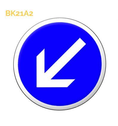 BK21a2 - Panneau temporaire de contournement par la gauche Mysignalisation.com