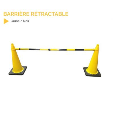 Barrière rétractable pour cônes de signalisation mysignalisation