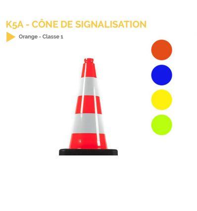 K5a - Cône de signalisation 500mm lesté mysignalisation