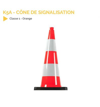 K5a - Cône de signalisation 750mm lesté my signalisation