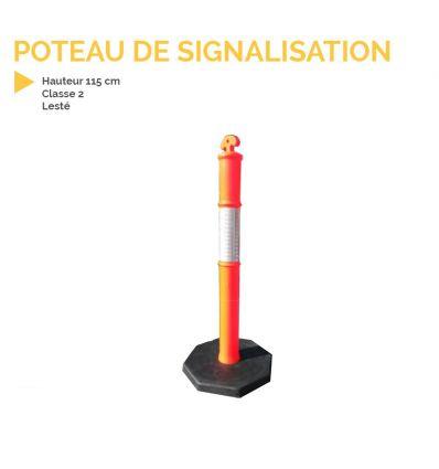 Poteau de signalisation lesté mysignalisation