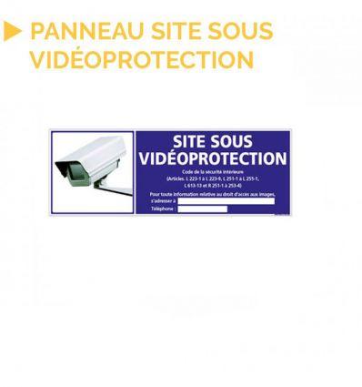 Panneau SITE SOUS VIDÉO-PROTECTION