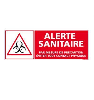 Panneau Alerte sanitaire : Eviter tout contact physique