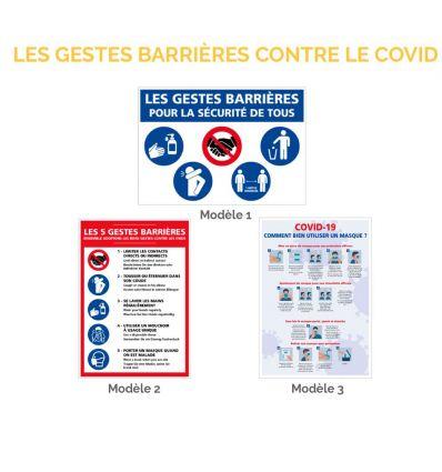 Panneau des 5 principaux gestes barrières pour la sécurité de tous