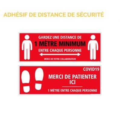 Adhésif de distance de sécurité pour sol pour la lutte contre le Covid-19