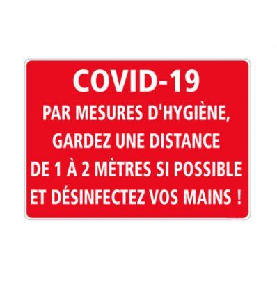 Adhésif de sol pour assurer des mesures d'hygiène pendant le Covid-19