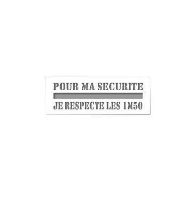 """Covid-19 : Pochoir personnalisable  """"Pour ma sécurité je respecte les"""""""