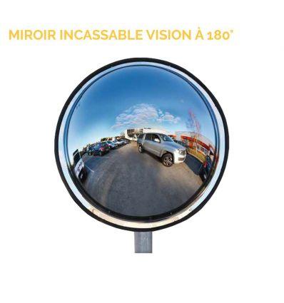 Miroir extérieur incassable - vision 180°