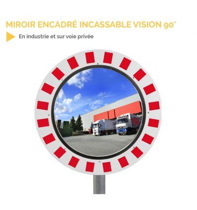 Miroir extérieur encadré incassable - vision 90°