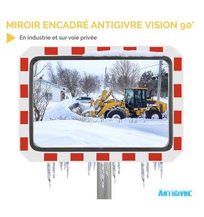 Miroir extérieur encadré antigivre - vision 90°