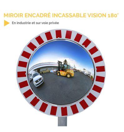 Miroir extérieur encadré incassable - vision 180°