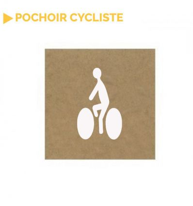 Pochoir cycliste