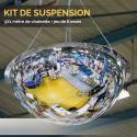 Kit de suspension (5x1 mètre de chaînette + jeu de 6 esses)
