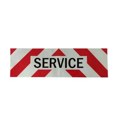 Panneau Adhésif Service Rétroréfléchissant pour Véhicule