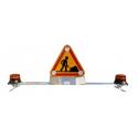 Barre de toit triflash AK5 avec 2 gyrophares pour véhicule de chantier