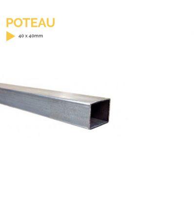 Poteau acier galvanisé 40 X 40 mm mysignalisation