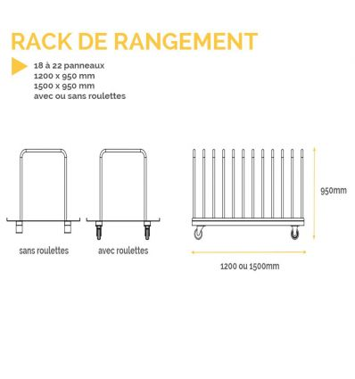 Rack de rangement pour panneaux