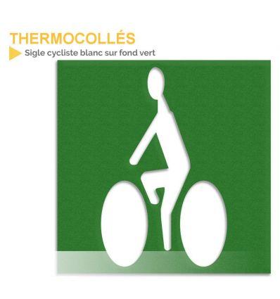 Vélo blanc sur fond vert Mysignalisation.com