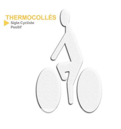 Thermocollé homme à vélo positif