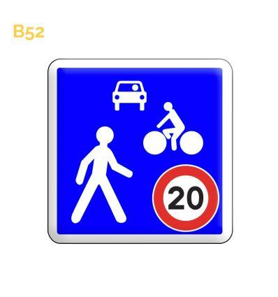 B52 - Panneau entrée d'une zone de rencontre Mysignalisation.com