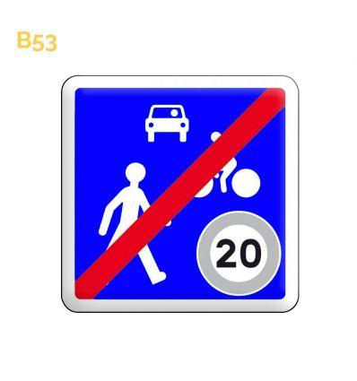 B53 - Panneau de sortie d'une zone de rencontre Mysignalisation.com