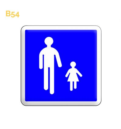 B54 - Panneau entrée d'une aire piétonne Mysignalisation.com