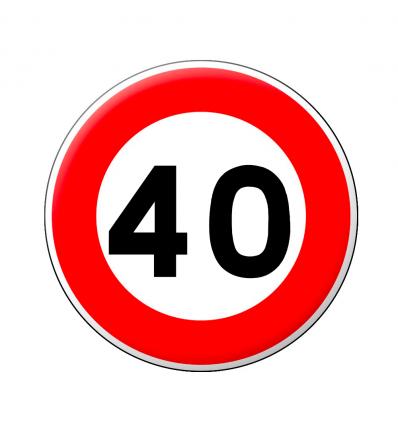 B14 - Panneau limitation de vitesse qui notifie l'interdiction de dépasser la vitesse 40 km/h Prozon