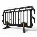 Barrière vauban en plastique noir ultra légère - Prozon