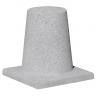 xBorne anti-stationnement en béton gris sablé