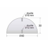 Schéma borne en béton demi-sphère 60 cm diamètre
