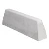Bordure de défense 100 cm blanc lisse