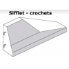 Schéma GBA glissière en béton armé extrémité sifflet avec crochets