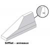 Schéma GBA glissière en béton armé extrémité sifflet avec anneaux