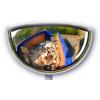 Miroir demi circulaire  de face